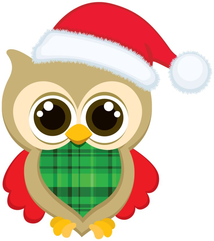 Santa and owls clipart svg freeuse stock 82+ Christmas Owl Clip Art | ClipartLook svg freeuse stock