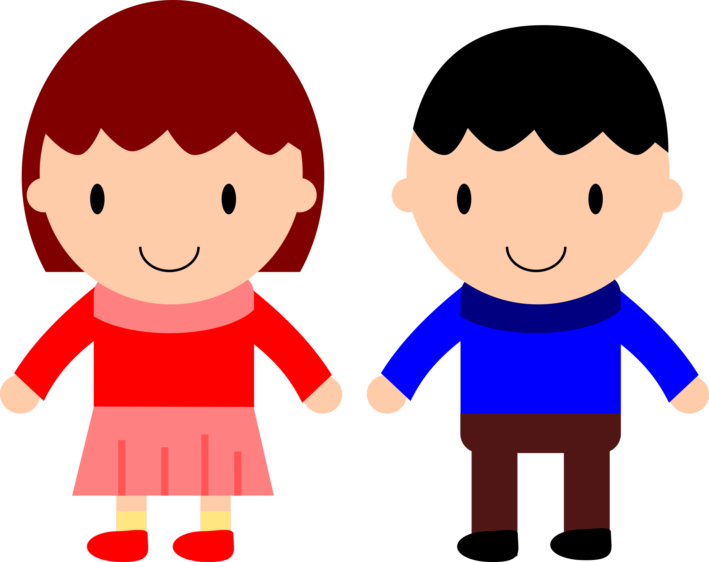 Image clipart girl vector transparent library Clipart - Girl and Boy vector transparent library