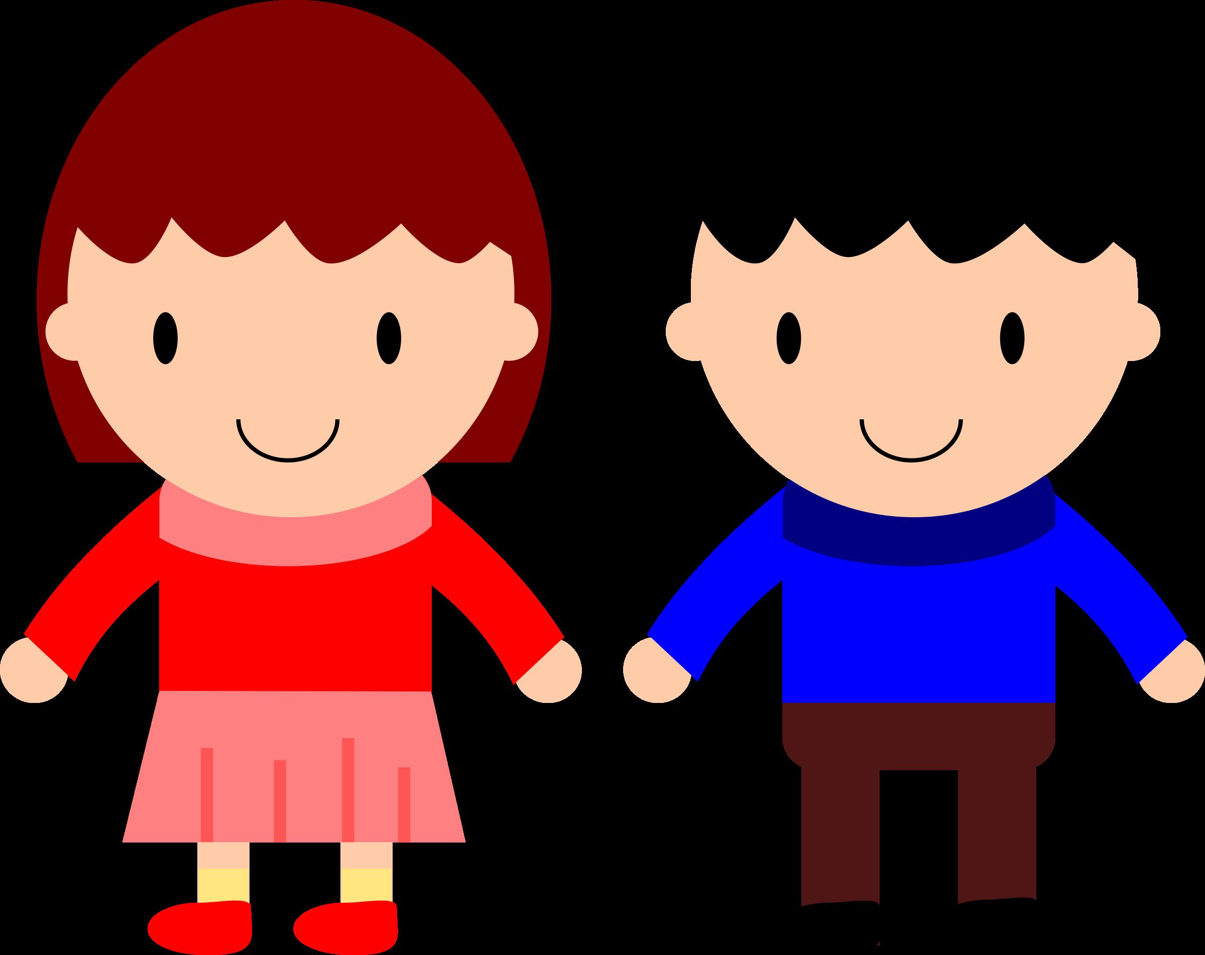 Boy & girl child basketball player clipart picture library stock Clipart - Girl and Boy picture library stock