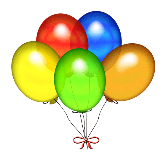 Image clipart gratuit picture free stock Happy Birthday Balloons Clip Art & Happy Birthday Balloons Clip ... picture free stock