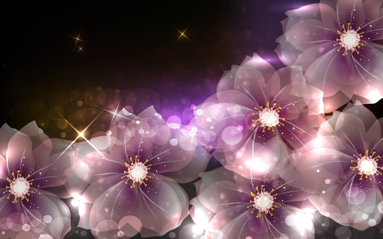 Image for flowers clip transparent library Glowing Flowers Live Wallpaper - Android Apps on Google Play clip transparent library