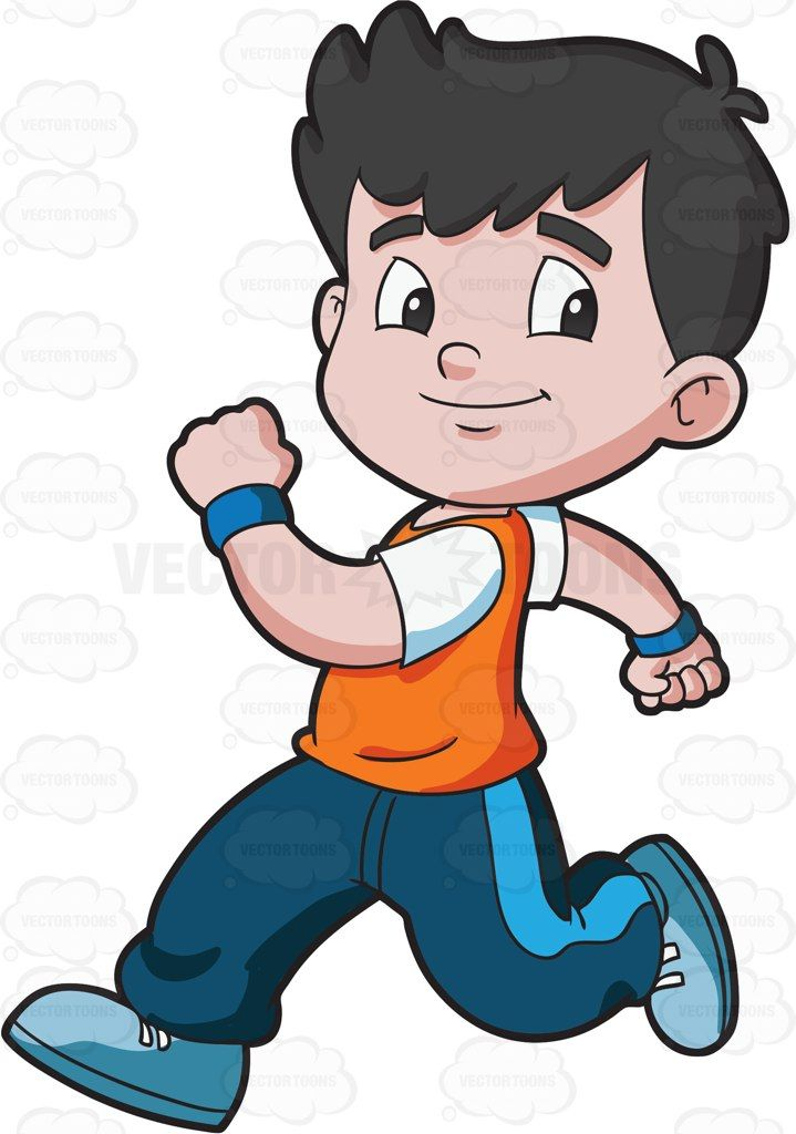 Running kid clipart image stock A boy running confidently | Crafts | Running clipart, Cartoon boy ... image stock