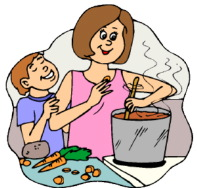 Image of a boy who stirs and cooks clipart royalty free library Cooking verbs - Clip Art Library royalty free library
