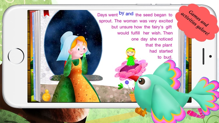 Image of a mold from thumbelina story clipart clipart library download Thumbelina by Story Time for Kids by Mariya Bohari clipart library download