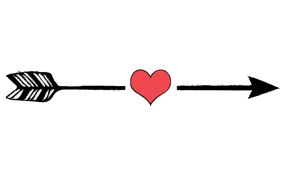 Image of arrow graphic royalty free Free illustration: Arrow, Arrows, Heart, Point - Free Image on ... graphic royalty free