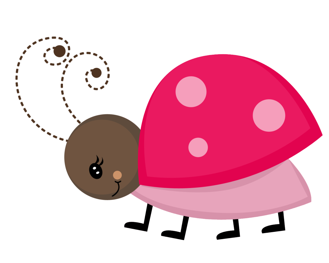 Image of flower clipart picture royalty free Pink Ladybug Flower Clipart picture royalty free