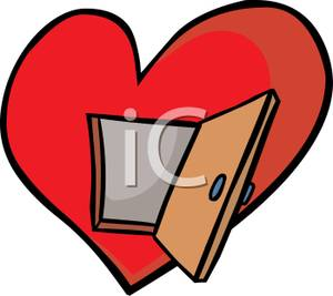 Image of open hearts clipart clipart freeuse download Free Clipart Image: An Open Door To a Red Heart clipart freeuse download