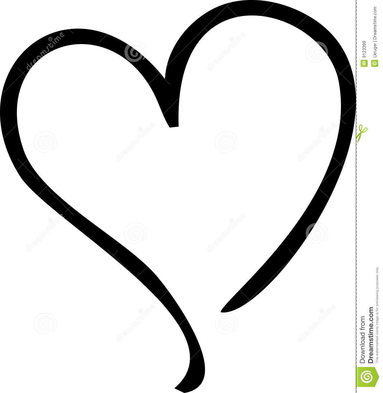 Image of open hearts clipart clipart royalty free library Heart Royalty Free Stock Images - Image: 9123399 clipart royalty free library