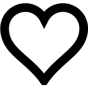 Image of open hearts clipart png royalty free library Free Heart Clipart Black and White Best Symbol Clip Art ... png royalty free library