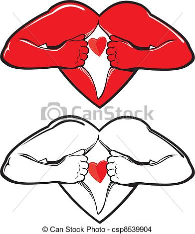Image of open hearts clipart clipart library EPS Vector of open heart - valentine`s day - open your heart, fall ... clipart library