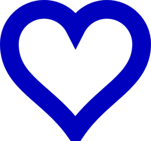 Image of open hearts clipart banner royalty free library Open Blue Heart Clip Art at Clker.com - vector clip art online ... banner royalty free library