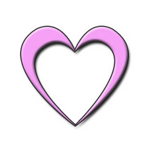 Image of open hearts clipart image royalty free download Clipart Picture of an Open Pink Heart image royalty free download