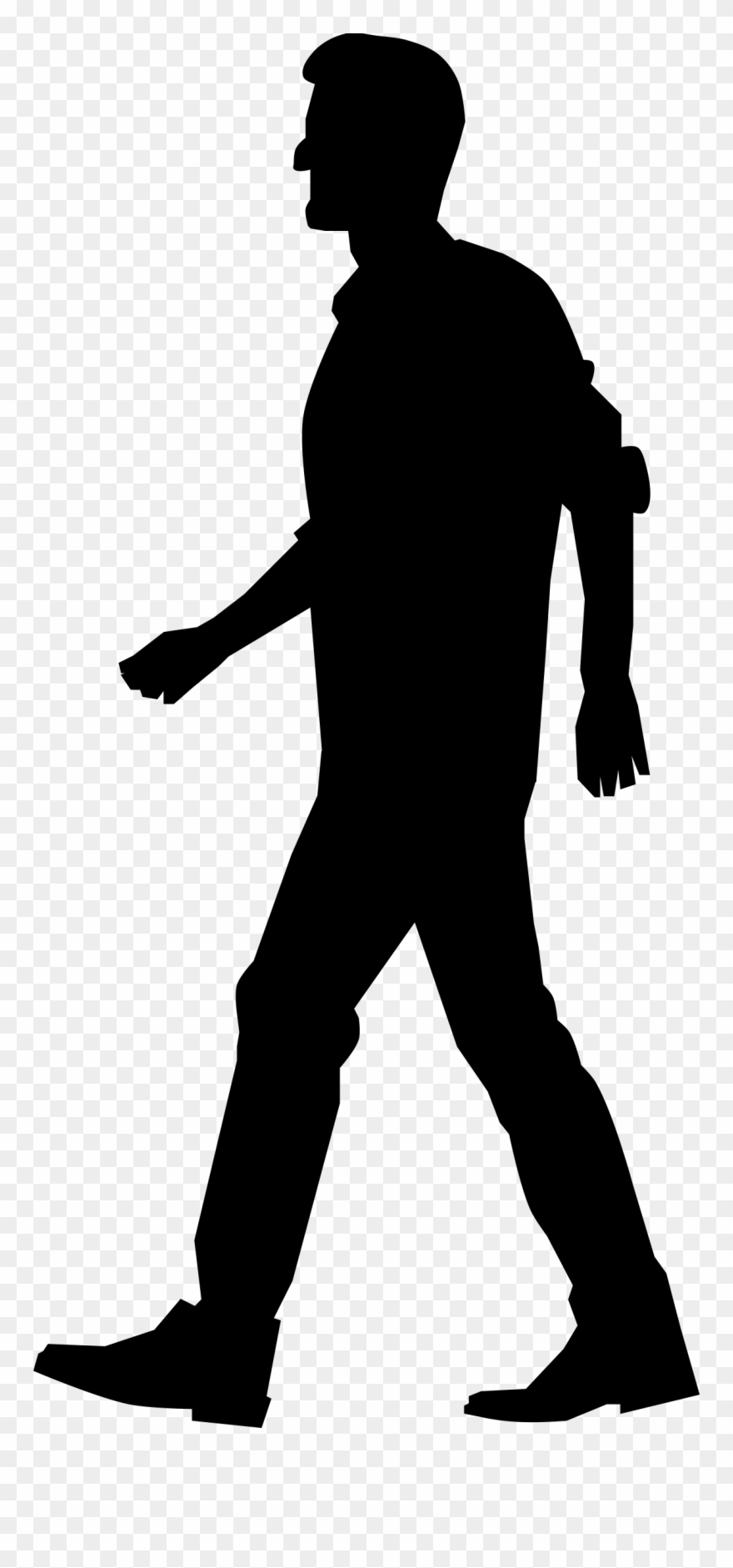 Walking legs clipart transparent image freeuse library Walking Clipart Png - People Silhouette Walking Png Transparent Png ... image freeuse library