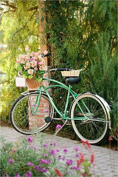 Image of retro bicycle with basket of spring flowers clipart picture freeuse download 71 Best Vintage bicycles, baskets and flowers. images in 2019 ... picture freeuse download