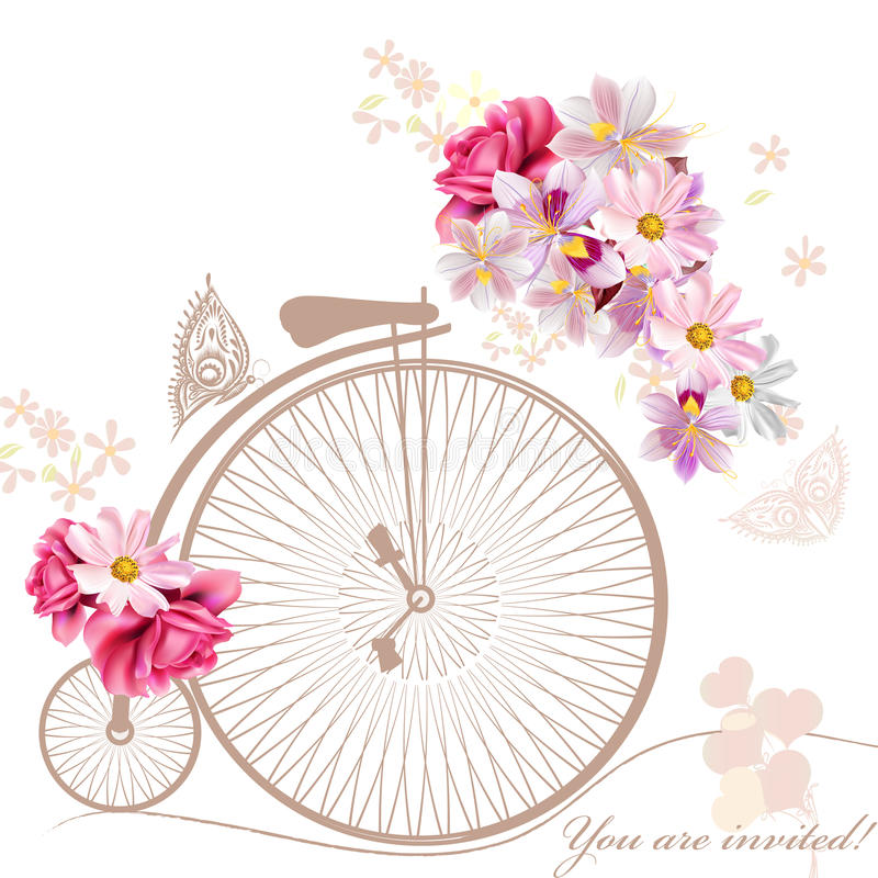 Image of retro bicycle with basket of spring flowers clipart jpg free Spring clip art bicycle - 15 clip arts for free download on EEN jpg free
