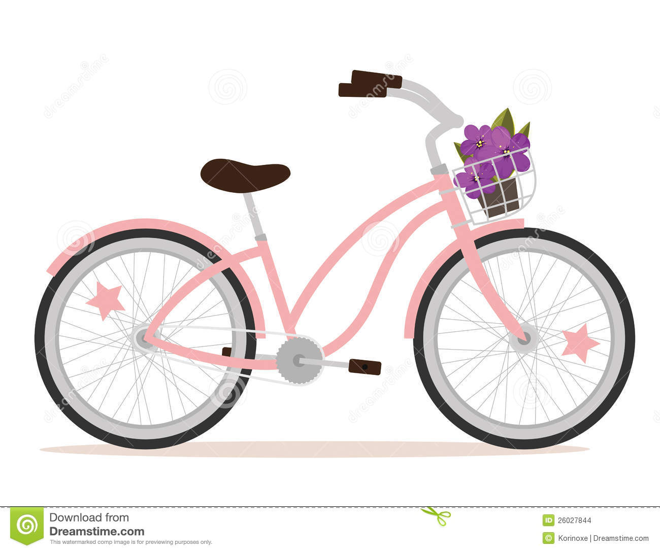 Image of retro bicycle with basket of spring flowers clipart banner freeuse download Tandem Bike Clipart | Free download best Tandem Bike Clipart on ... banner freeuse download
