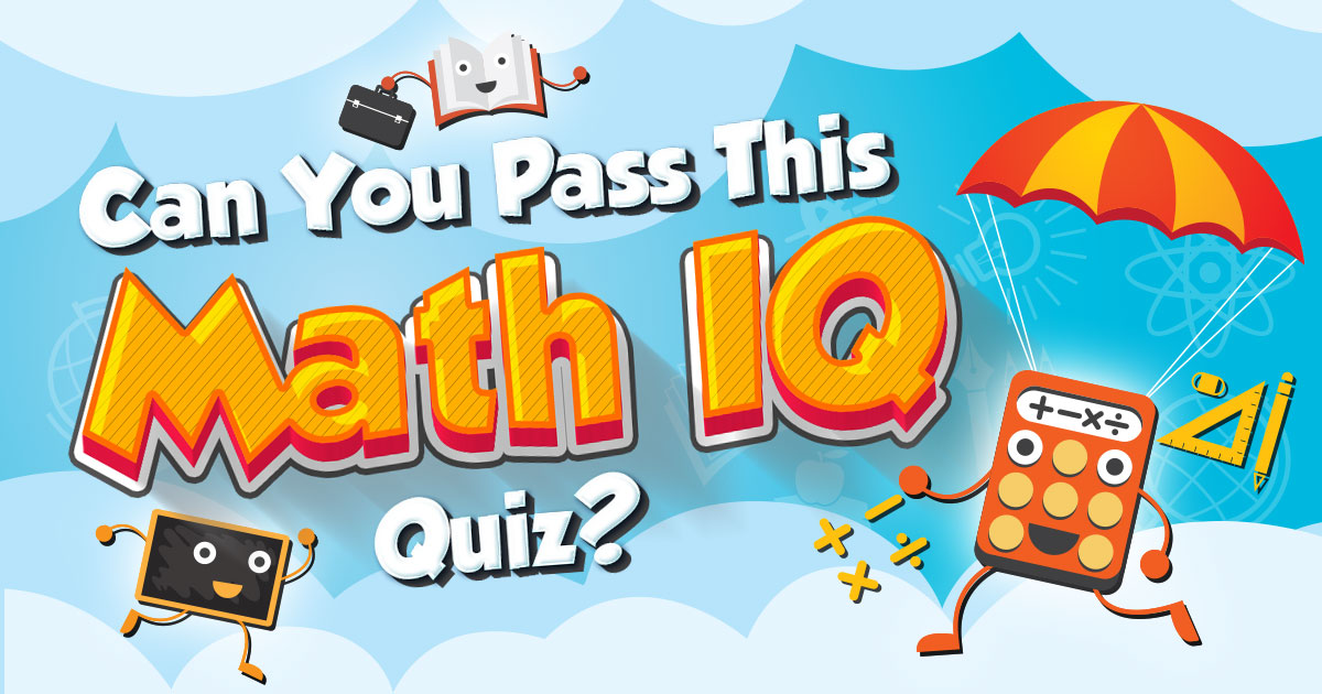 Image of tests quizzes elementary school clipart vector royalty free Can You Pass This Math IQ Quiz? vector royalty free