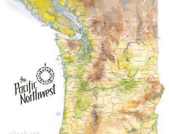 Image pacific northwest clipart map clip art black and white download Image pacific northwest clipart map - ClipartFest clip art black and white download