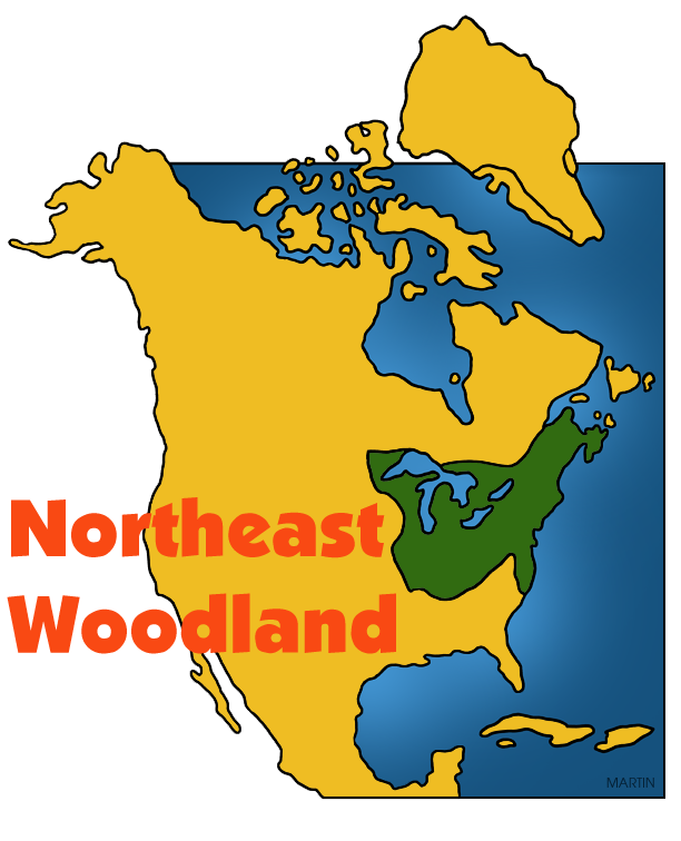 Image pacific northwest clipart map image free Free Native Americans Clip Art by Phillip Martin, Northeast ... image free