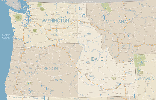 Image pacific northwest clipart map picture stock Image pacific northwest clipart map - ClipartFest picture stock