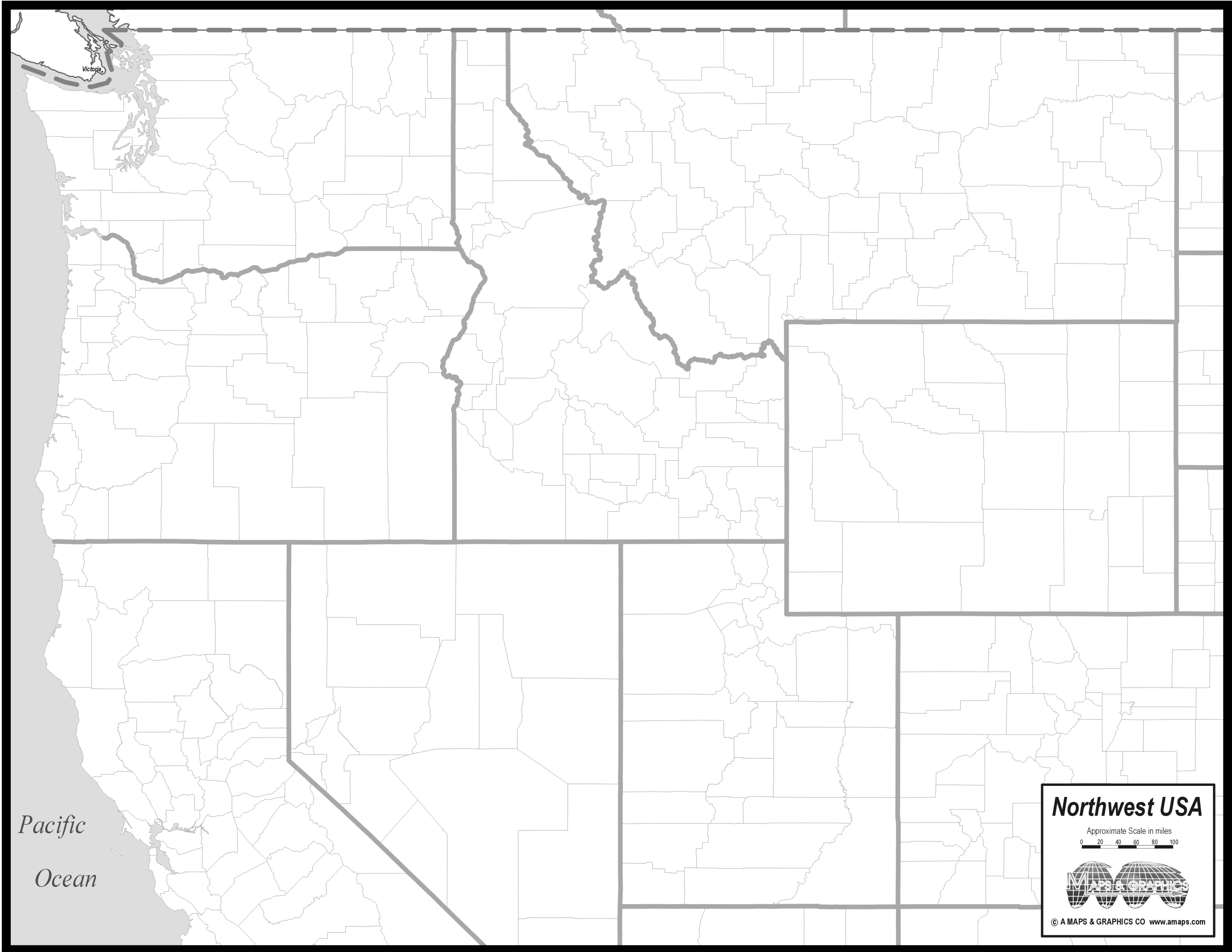Image pacific northwest clipart map clipart black and white library Outline Map Of Pacific Northwest With Image Clipart ~ Free ... clipart black and white library