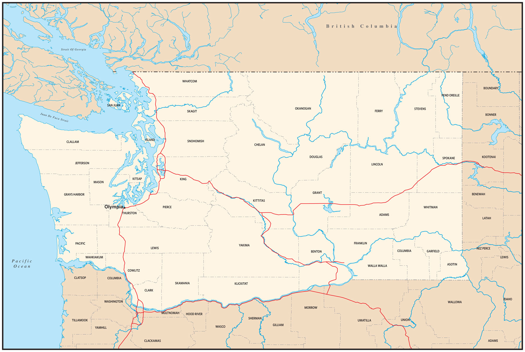 Image pacific northwest clipart map graphic download Outline Map Of Pacific Northwest With Image Clipart ~ Free ... graphic download