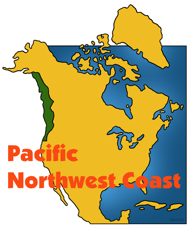 Image pacific northwest map clipart