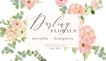 Image result for teal sage pink flowers clipart clip stock Watercolor Floral Clip Art, Peach Blush Pink Sage Dusty ... clip stock
