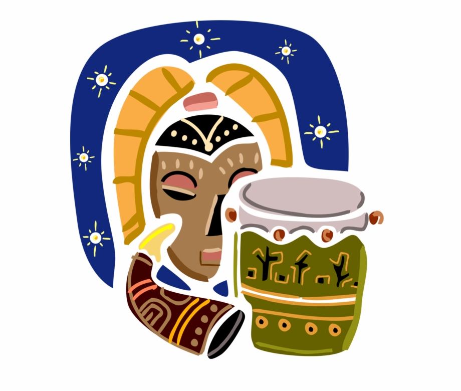 Imagedoc darknoise clipart picture royalty free Vector Illustration Of African Djembe Skin-covered ... picture royalty free