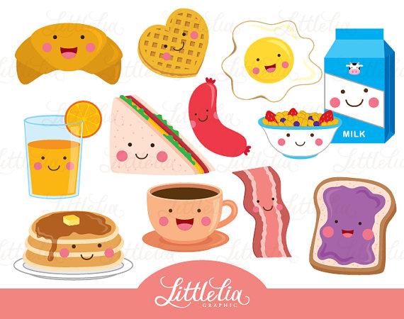 Imagenes clipart kawaii vector free Breakfast cute clipart - kawaii clipart - 15095 | Scrapbook ... vector free
