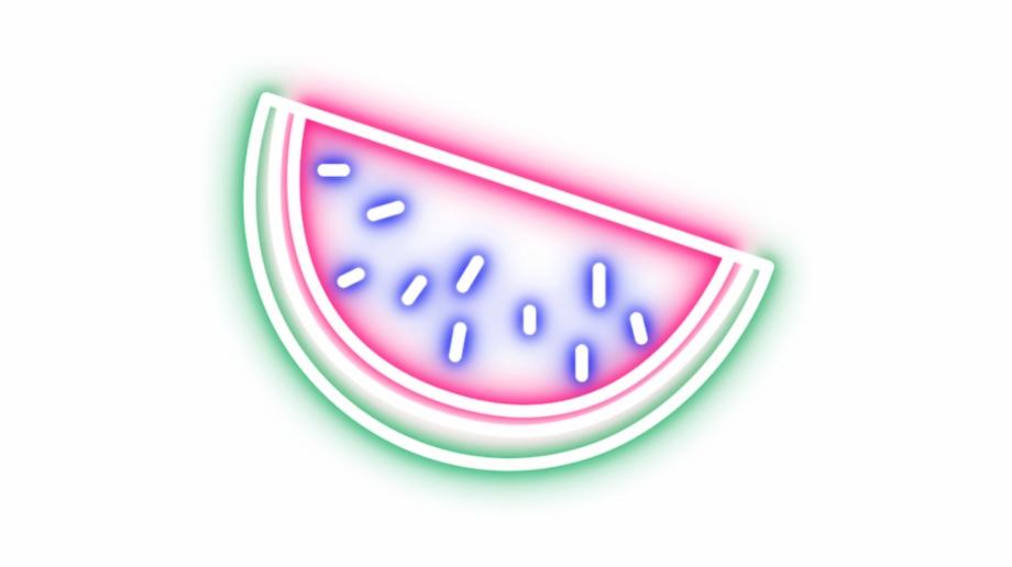 Imagenes neon clipart vector black and white download sandia #summer #neon #glich #tumblr #sticker - Watermelon ... vector black and white download