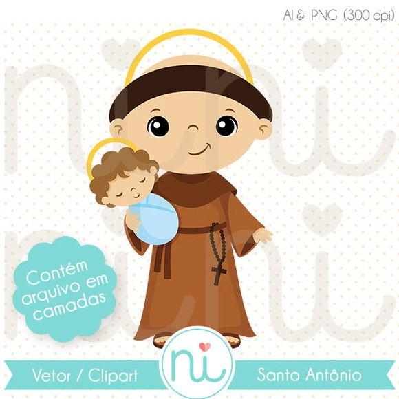 Imagenes religiosas clipart svg download Santo Antônio - Clipart / Vetor | IMAGENES RELIGIOSAS!!! | Santo ... svg download