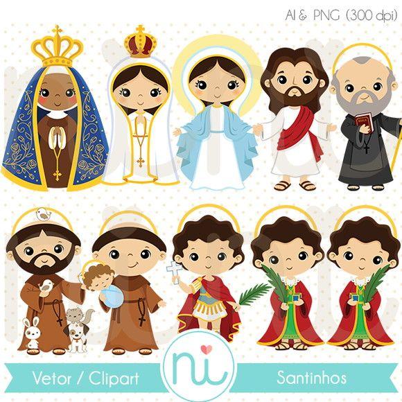 Imagenes religiosas clipart clip black and white Coleção Santinho - Clipart / Vetor | IMAGENES RELIGIOSAS ... clip black and white