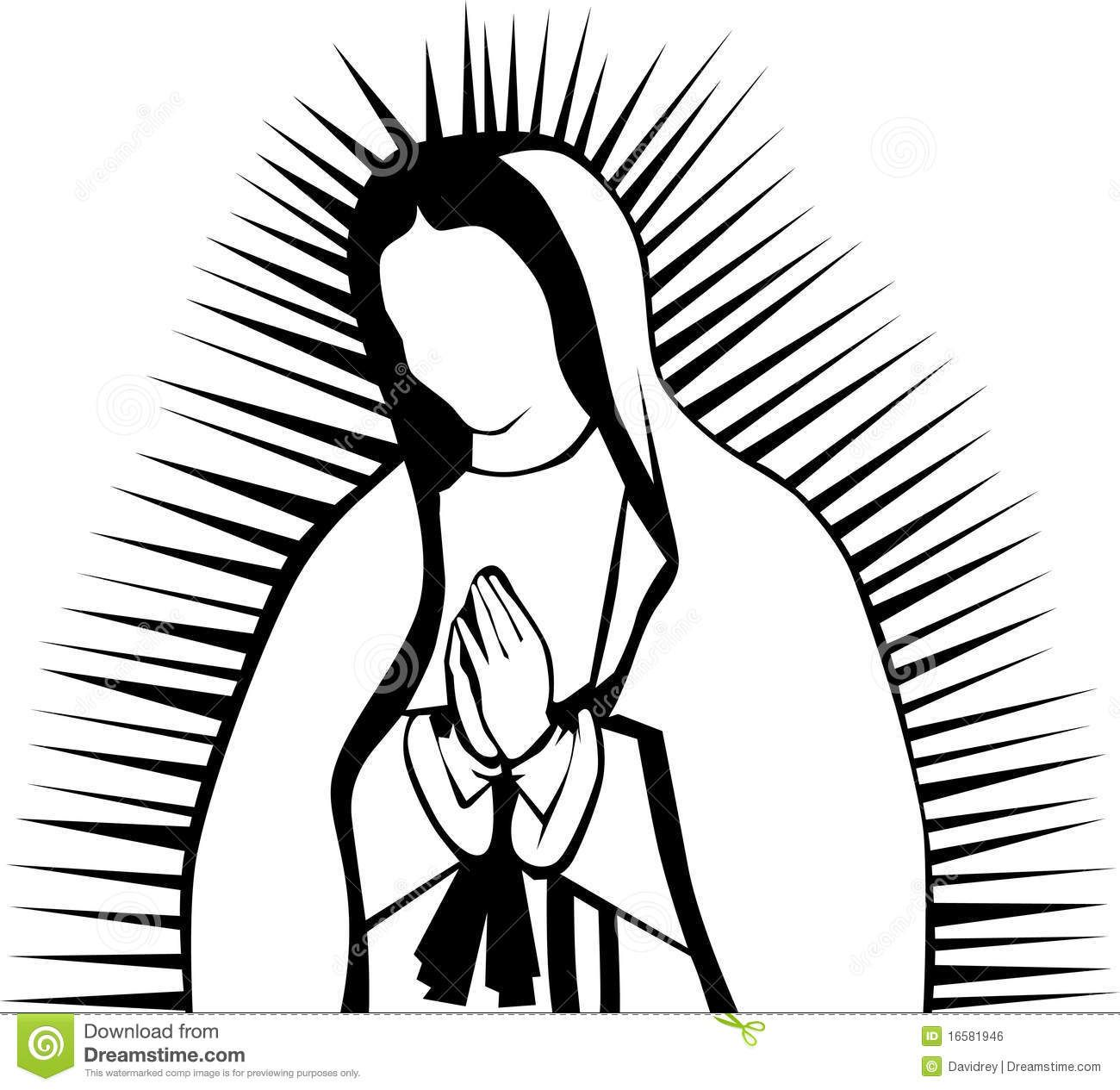 Imagenes virgen de guadalupe clipart banner transparent our lady of guadalupe clip art images | Black and white clipart ... banner transparent
