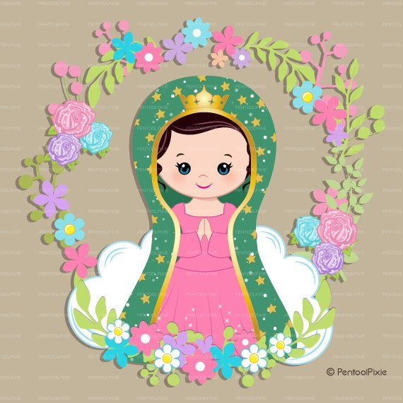 Imagenes virgen de guadalupe clipart clip art freeuse Virgen de guadalupe, Mother Mary clipart, Virgencitas, Virgin Mary ... clip art freeuse