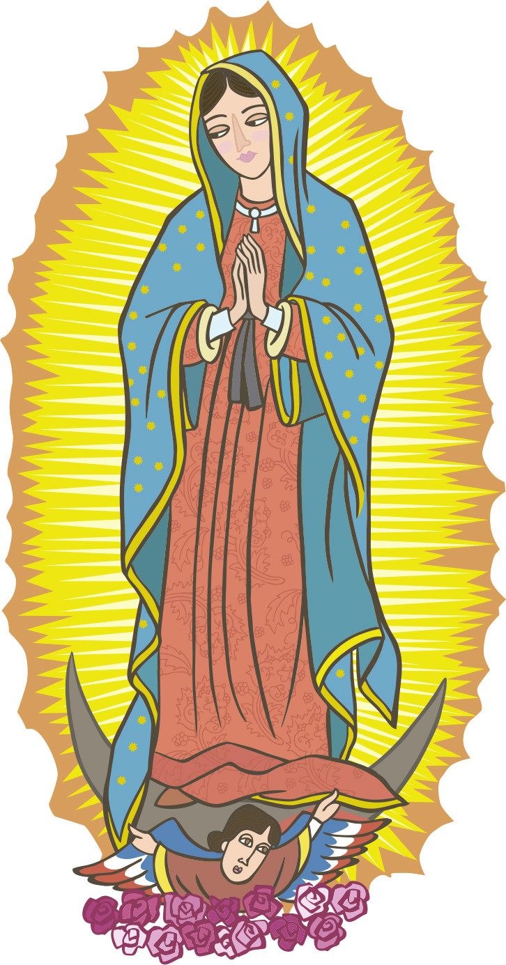 Imagenes virgen de guadalupe clipart black and white stock Virgen de guadalupe clipart 4 » Clipart Station black and white stock