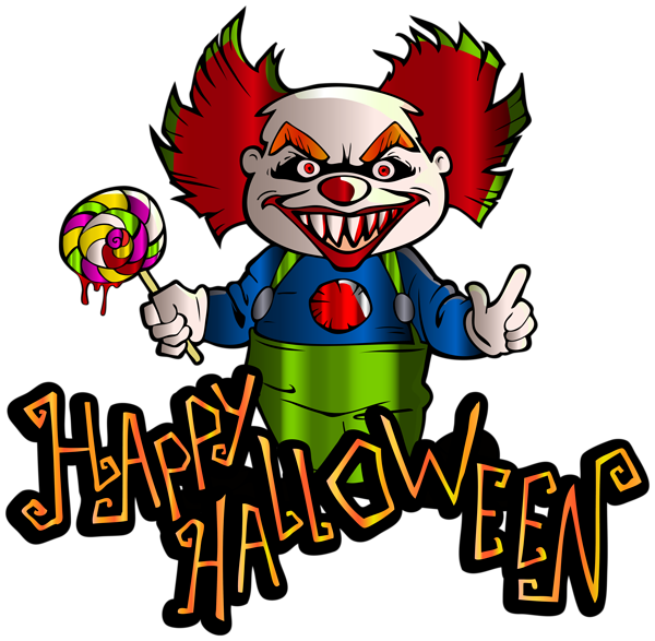 Happy Halloween with Clown PNG Clipart Image | Halloween | Pinterest ... clip free