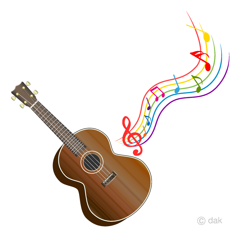 Ukulele images clipart download Ukulele and Colorful Music Note Clipart Free Picture|Illustoon download