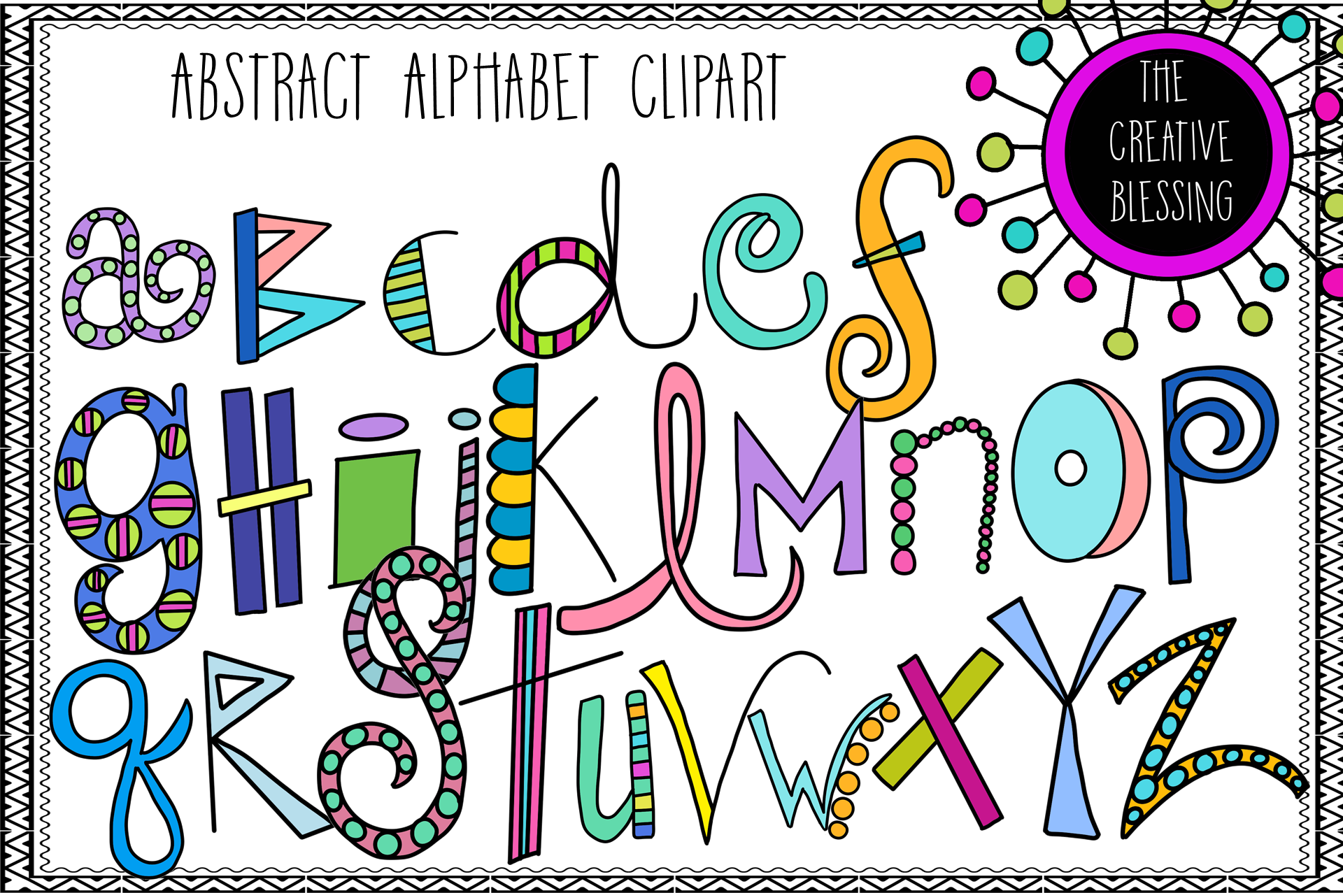 Images of alphabet clipart clip art black and white Abstract Alphabet Clipart clip art black and white