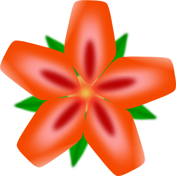 Hawiian flower clipart clip free download Atulasthana Red Flower Clip Art at Clker.com - vector clip art ... clip free download