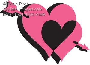 Images of double hearts with arrow clipart svg royalty free library Two Hearts And An Arrow Clipart - Clipart Kid svg royalty free library