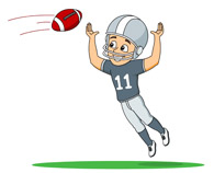 Images of football player catching ball clipart png freeuse library Search Results for Football - Clip Art - Pictures - Graphics ... png freeuse library