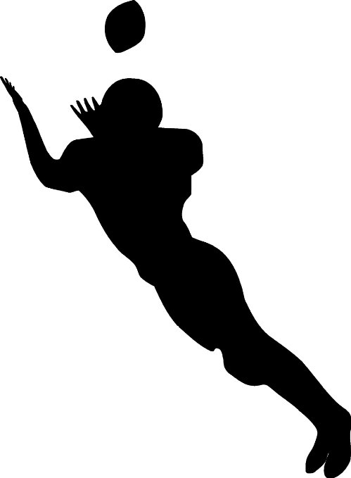 Images of football player catching ball clipart vector royalty free download Flag Football Silhouette | Free download best Flag Football ... vector royalty free download
