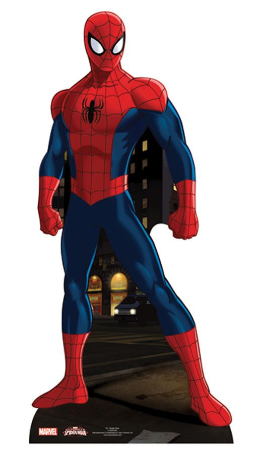 Images of spiderman standing up shooting webb clipart graphic Spider-Man Lifesize Cardboard Cutout / Standee / Standup - Marvel ... graphic
