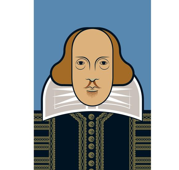 Images shakespeare clipart collar clip free stock Postcard: Andy Tuohy - Shakespeare clip free stock