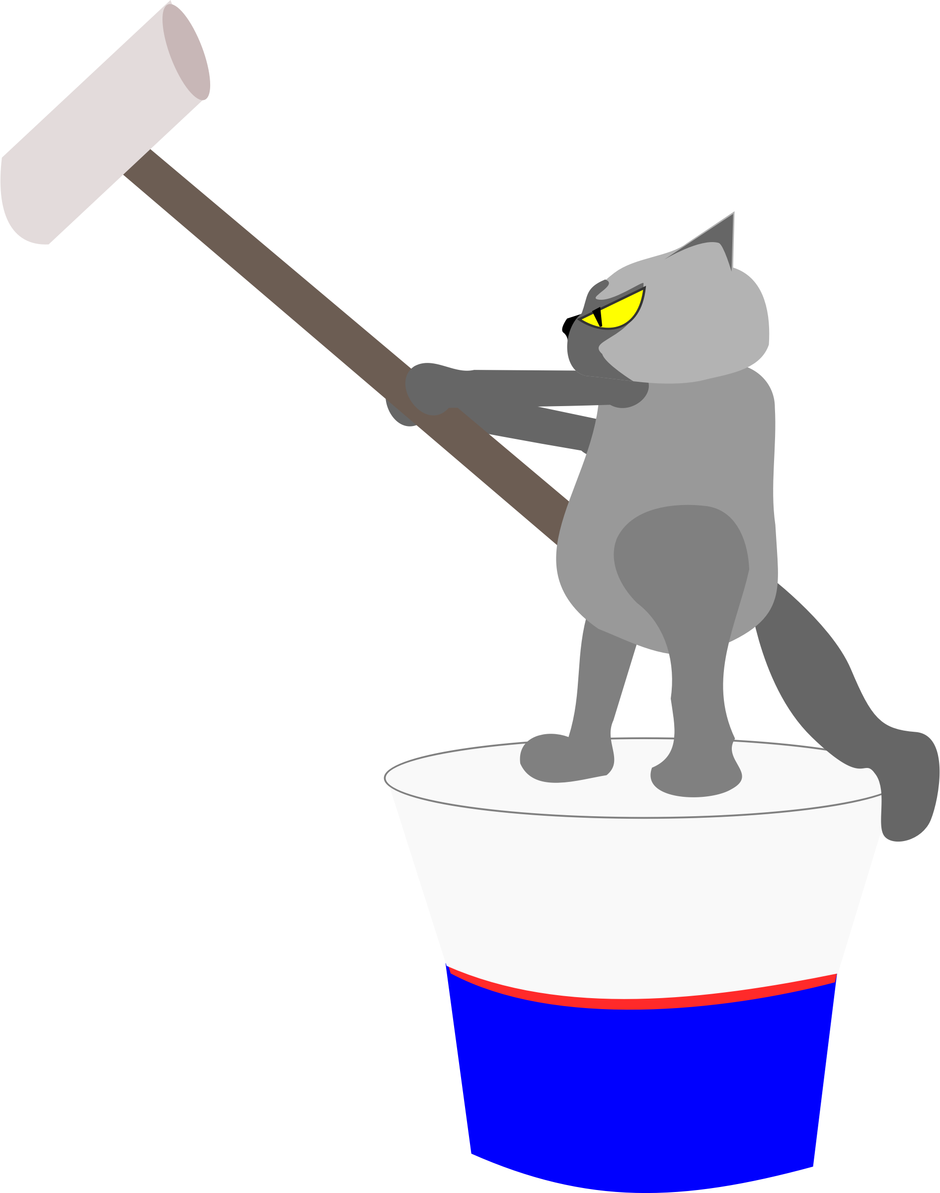Images toilet cat clipart freeuse download Clipart - cat painting wall freeuse download