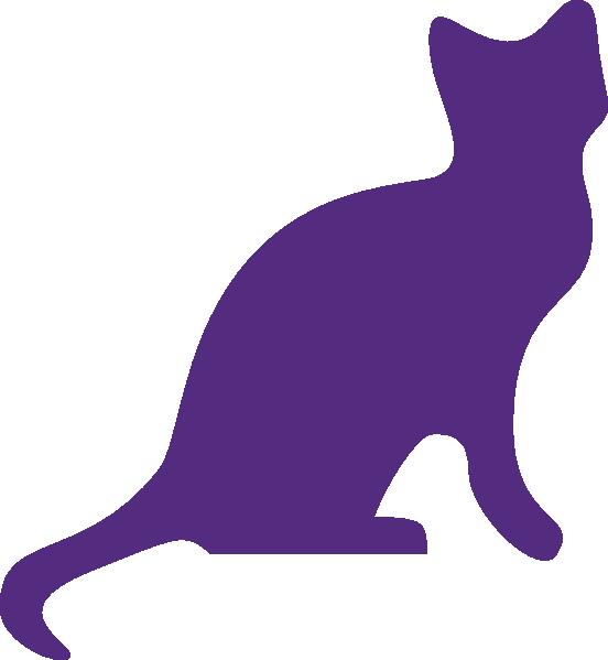Imaginary purple cat clipart transparent Purple Cat Clip Art at Clker.com - vector clip art online, royalty ... transparent