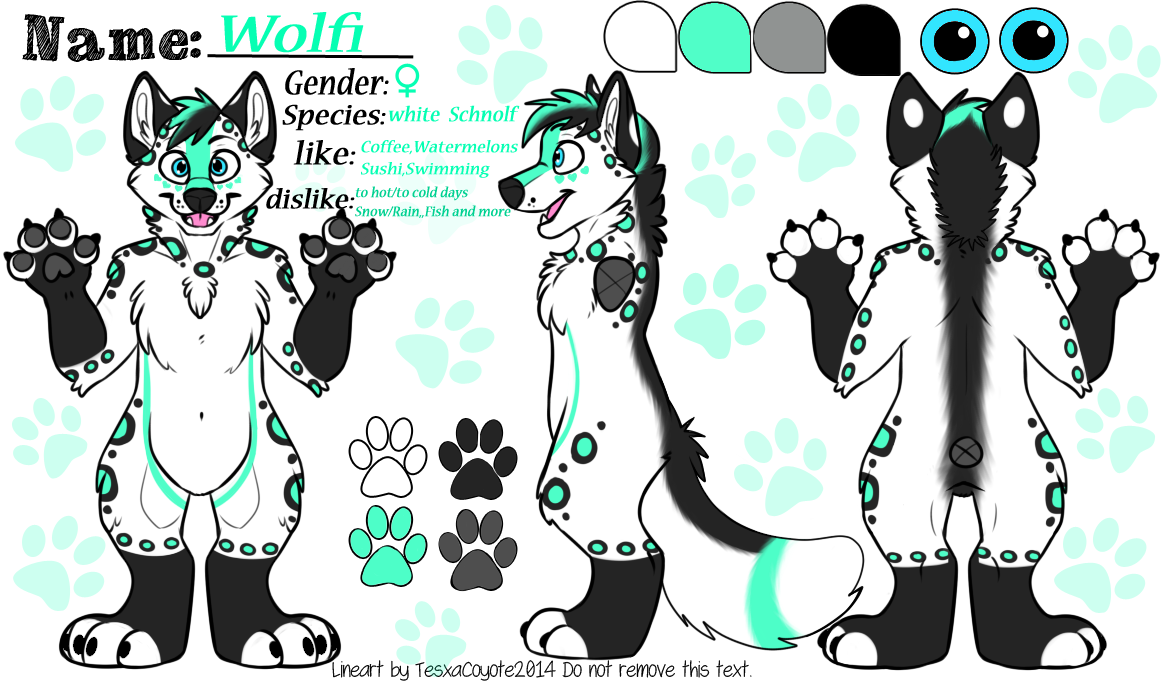 Imgur__om igkv0p4 clipart graphic Fursuit reference sheet lineart tesxacoyote - 15 linearts for free ... graphic