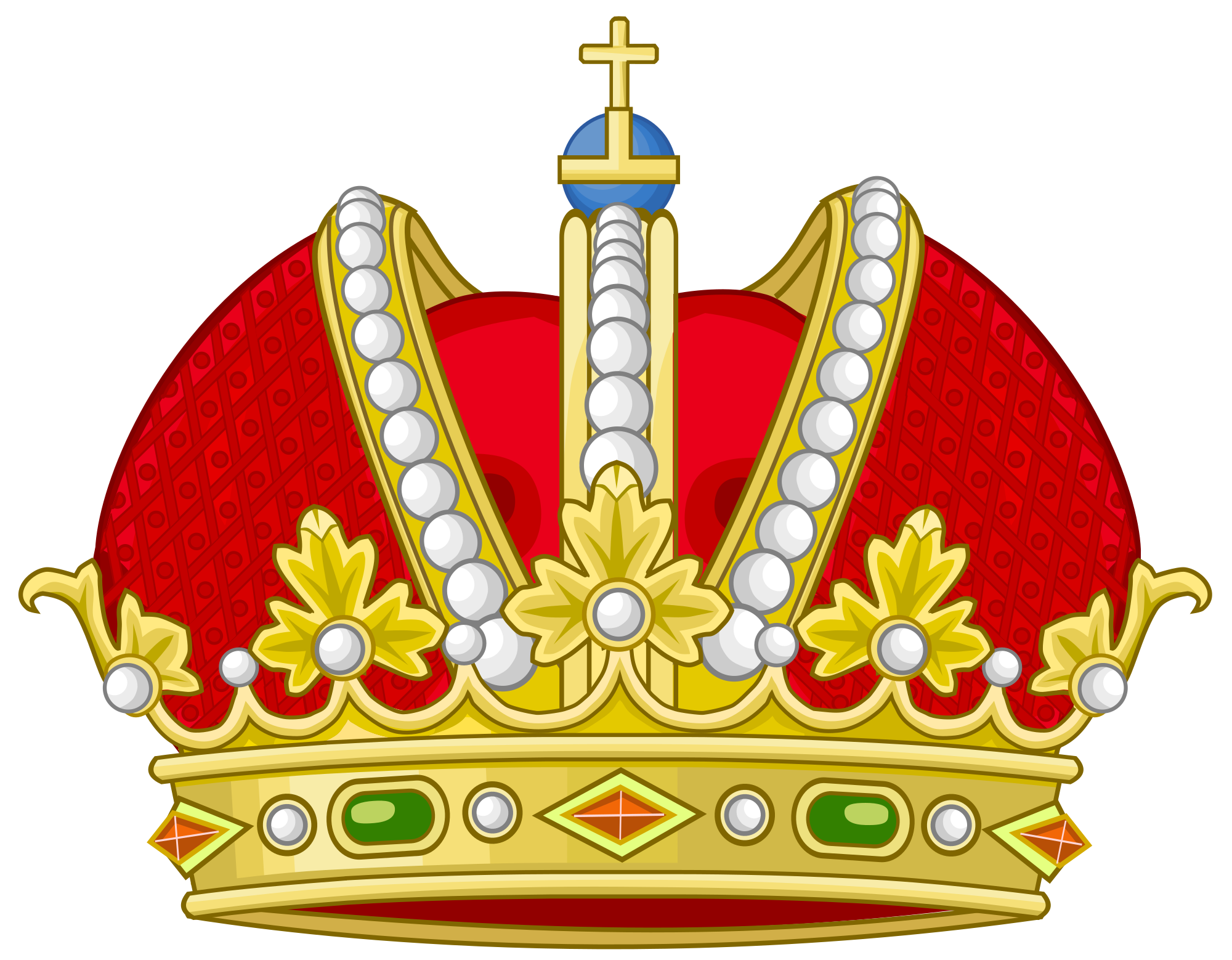 Imperial crown clipart clip library download File:Heraldic Imperial Crown (Spanish National Arms Design).svg ... clip library download