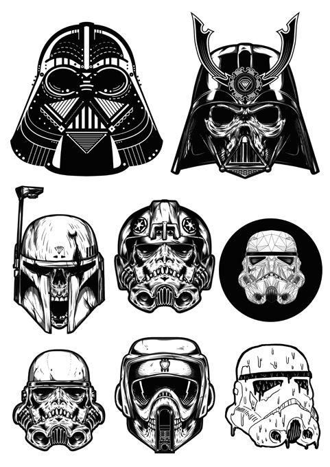 Imperial ground crew star wars empire clipart jpg library download 9 PCS Star Wars Darth Vader Imperial Stormtrooper Logo Vinyl ... jpg library download